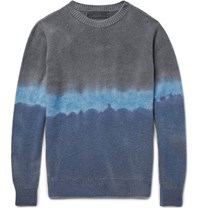 The Elder Statesman Degrade Cashmere Sweater Blue