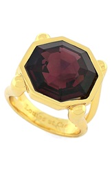 Louise Et Cie 'Bleecker Street' Stone Ring Gold Plum Wine