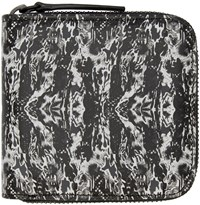 Marcelo Burlon Black And White Liaima Wallet