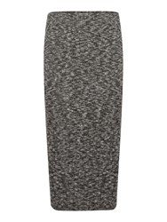 Label Lab Riker Charcoal Brushed Rib Skirt Charcoal