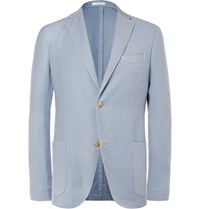 Boglioli Blue K Jacket Wool And Silk Blend Blazer Light Blue