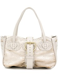 Jamin Puech Buckle Strap Tote Bag Nude And Neutrals