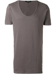 Unconditional Longline T Shirt Grey