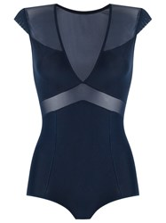 Giuliana Romanno Panels Bodysuit Blue