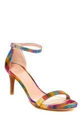 Stuart Weitzman Nunaked Leather Ankle Strap Sandal Wide Width Available Multi