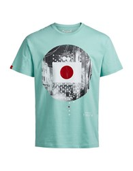 Jack And Jones Graphic Printed Short Sleeve Tee Aqua Haze