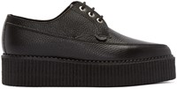 Underground Black Leather Lace Up Billy Creepers