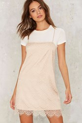 Get Some Slip Mini Dress Beige