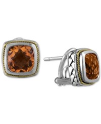 Effy Collection Balissima By Effy Citrine 4 Ct. T.W. Stud Earrings In 18K Gold And Sterling Silver