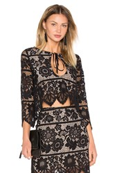 For Love And Lemons Gianna Crop Top Black