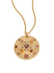 De Beers Talisman Core Diamond And 18K Yellow Gold Pendant Necklace