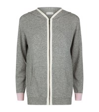 Chinti And Parker Colour Block Cashmere Hoodie Female Grey
