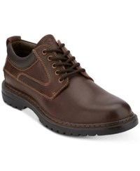 Dockers Warden Plain Toe Leather Oxfords Shoes Red Brown