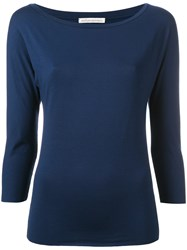 Stefano Mortari Plain Sweatshirt Blue