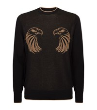 Billionaire Jacquard Eagle Sweater Male Black