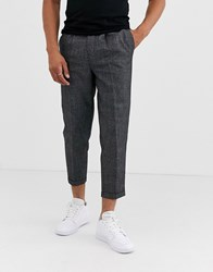 New Look Pleat Front Smart Trousers In Grey
