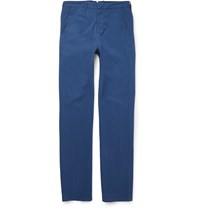 Dunhill Slim Fit Stretch Cotton Chinos Royal Blue