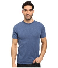 Threads For Thought Tri Blend Knapp Crew Short Sleeve Tee Dark Blue Men's T Shirt