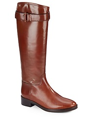 Tory Burch Grace Leather Knee High Riding Boots Sienna