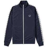 Fred Perry Laurel Taped Track Jacket Blue