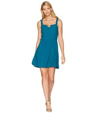 Lucy Love Falling For You Dress Teal Blue