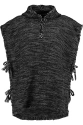 Isabel Marant Lary Cowens Fringed Wool Blend Hooded Poncho