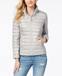 32 Degrees Packable Down Puffer Coat Silver