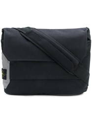 Stone Island Flap Messenger Bag Polyamide Black