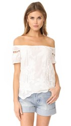 Wayf Holden Off Shoulder Top Ivory