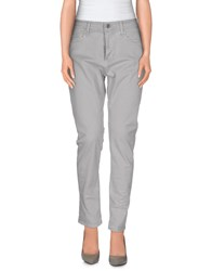 M.Grifoni Denim Trousers Casual Trousers Women Light Grey