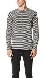 The Kooples Sport Striped Long Sleeve Tee Black