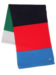 Dsquared Striped Wool Knit Scarf Multicolor