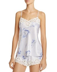Ralph Lauren Signature Satin Floral Short Pajama Set Blue Floral