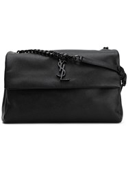 Saint Laurent Medium Monogram West Hollywood Bag Women Leather One Size Black
