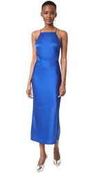Jason Wu Satin Cocktail Dress Klein Blue