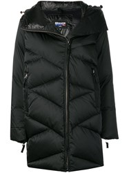 Blauer Quilted Padded Coat Black