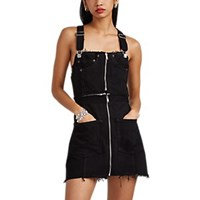 Re Done Decon Levi's Denim Overall Dress Black