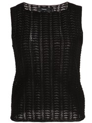 Theory Sleeveless Knitted Top Black