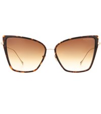 Dita Eyewear Sunbird Cat Eye Sunglasses Brown