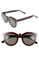 Saint Laurent Women's 47Mm Sunglasses Red Glitter Black Red Glitter Black