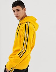Jack And Jones Core Hoodie With Side Taping Yellow