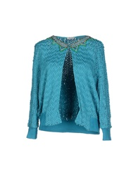 Le Ragazze Di St. Barth Cardigans Turquoise