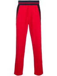 Iceberg Side Stripe Track Trousers Red
