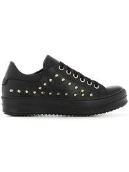 Les Hommes Studded Low Top Sneakers Black