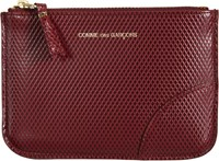 Comme Des Garcons Comme Des Garcons Luxury Leather Small Zip Pouch Red