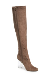 Jeffrey Campbell 'Verite' Tall Boot Women Taupe Suede