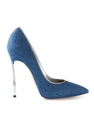 Casadei Denim Pump Shoes Blue