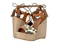 Etro Paisley Wedge Sandal Cuoio Women's Sandals Brown