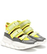 Versace Chain Reaction Sneakers Yellow