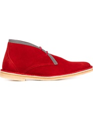 Pierre Hardy Contrast Trim Desert Boots Red